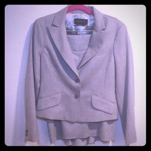 BCBG MaxAzria Grey Wool Blend Skirt Suit